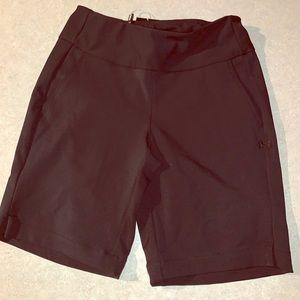 "Black 9"" Under Armour Golf Shorts"